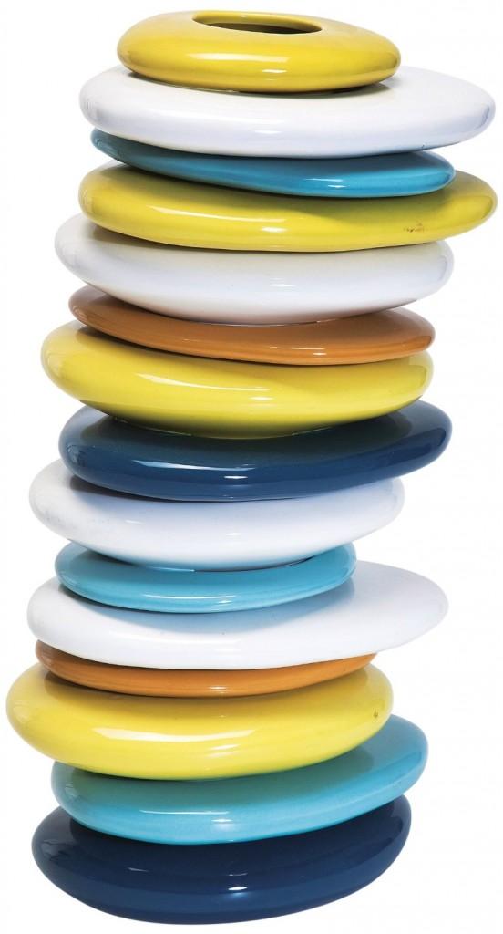 .amazon kare design vaso a forma di torre di sassi