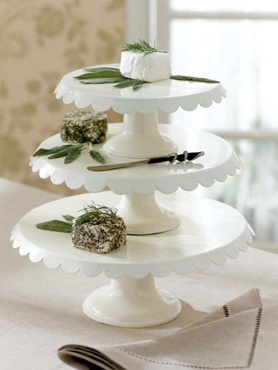bianco cake-stand-stile shabby