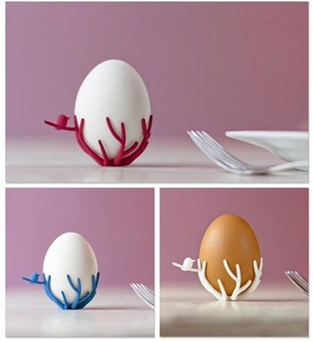 birdsnest-egg-cup by Shapeways