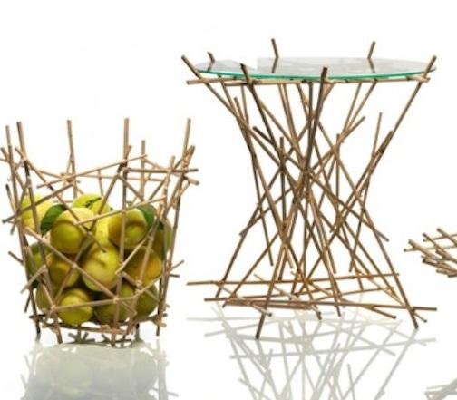 collezione Blow up in bambù. Fratelli Campana per Alessi