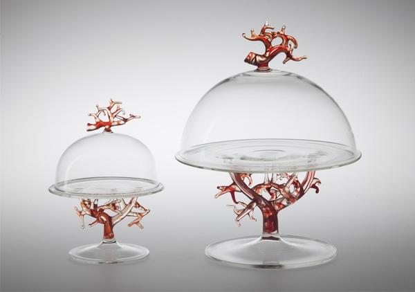 vetro Alzatina Corallo di Massimo Lunardon