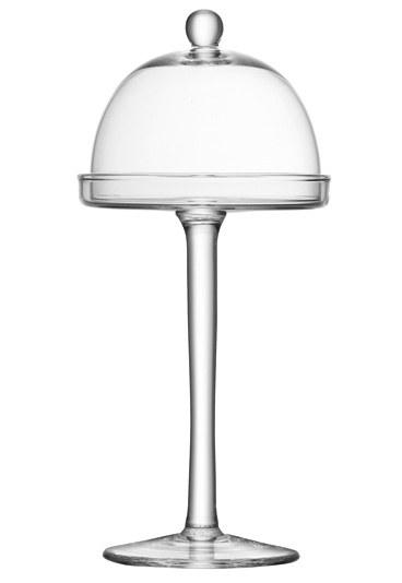 vetro Alzatina con coperchio della linea Mia di LSA International, in vetro riciclato e lavorato a mano. linea vienna