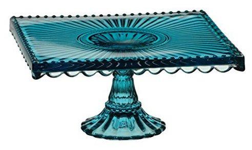 vetro Anton Studio Designs - Alzata per torte quadrata,