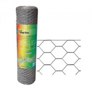 .amazon Rete zincata a caldo a maglia esagonale tripla torsione 1,50x25M mm 50x4 N