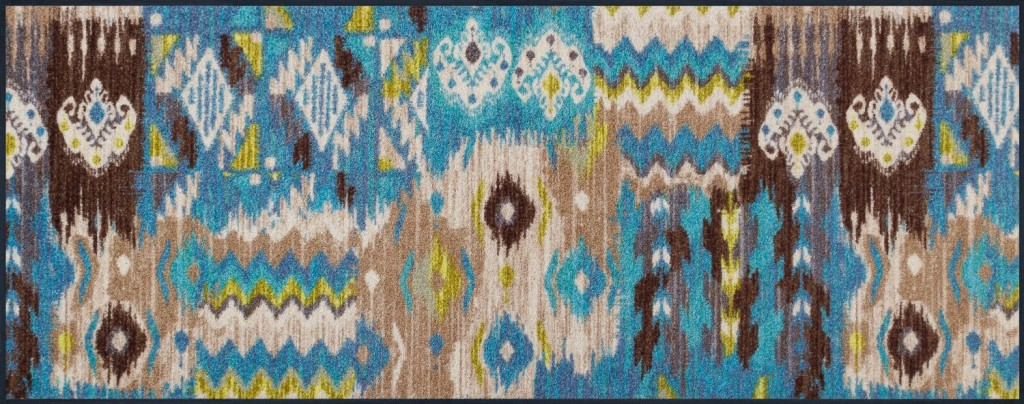 .amazon Tappeto ikat misto nylon, caucciù, nitrile, 75 x 190 cm di wash+dry