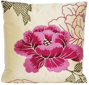 .amazon copriletto fiori Cuscino Copriletto, motivo fiori, colore rosa, effetto seta, ricamata Osborne and Little Piccolo Botan tessuto
