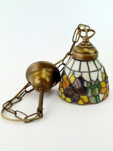 .amazon fd-bolletta Lampadario ottone brunito liberty sospensione1 luce,lampadari con vetro 59.00euro