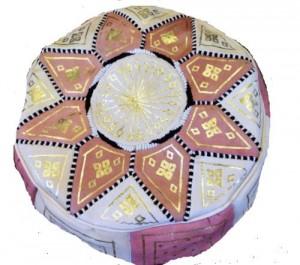 .amazon pouf in pelle stile marocchino con stella