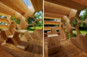 architettura Jean Françoise Laurent, Julien Jeanroy, Jean-Charles Riber, Jean-Baptiste Leduc progetto «K Abeilles - an hotel for bees»