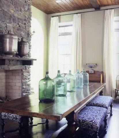 Bottiglie riuso creativo blog arredamento - Damigiane decorate ...