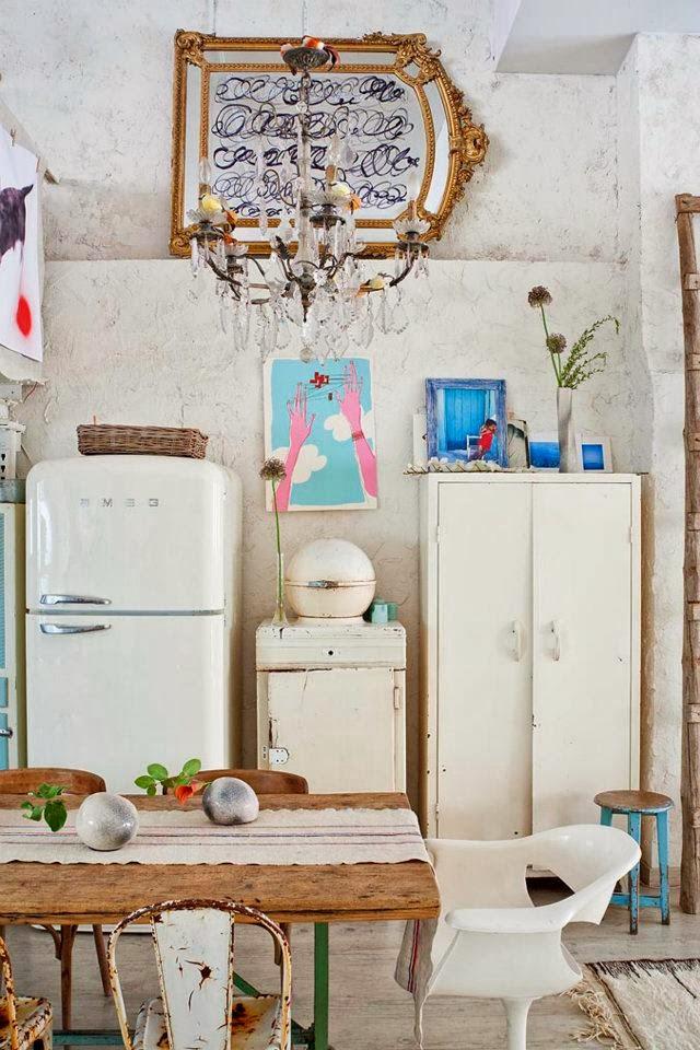 cucina bohemian vintage loft_10