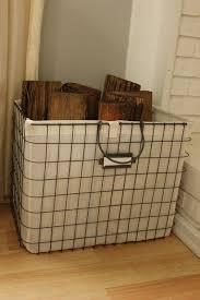 cucina rete cestino con lino