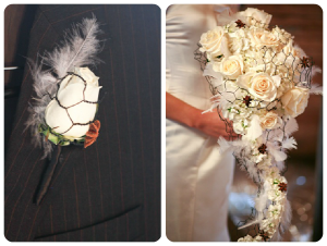 decor rete Wedding_Floral_With_Chicken_Wire