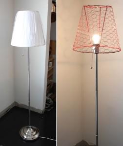 lamparete Ikea Hack Floor Lamp prima e dopo