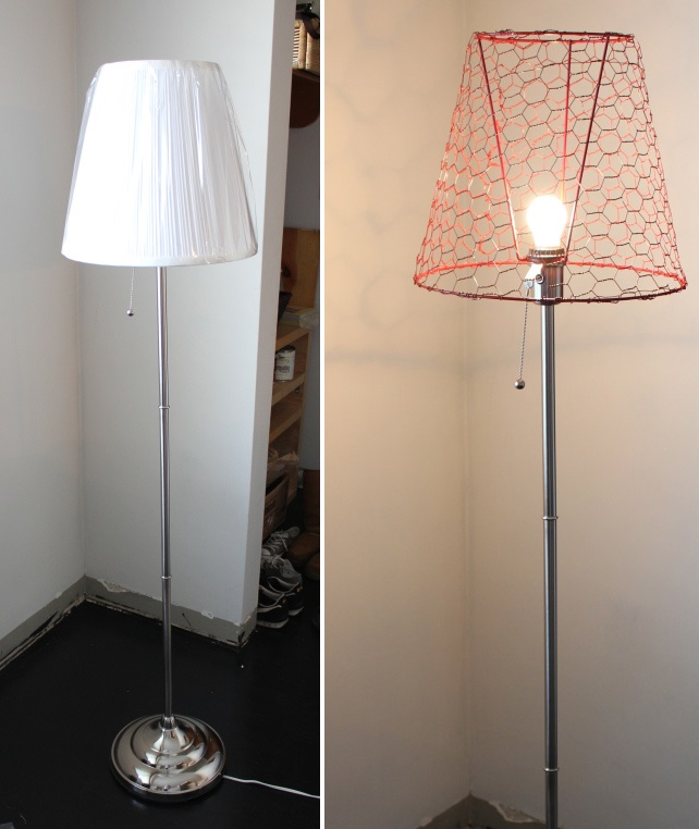 lamparete Ikea Hack Floor Lamp prima e dopo