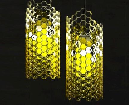 luce Beehouse, la lampada alveare del giovande designer russo Yar Rassadin Proposta al concorso Cristal Vision, promosso da Designboom e dall'azienda Swarovsky
