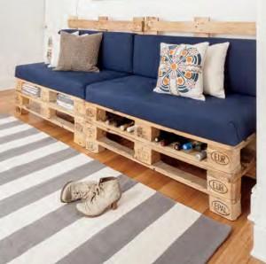 pallet divano pallet e portabottiglie