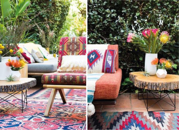 z Boho-Chic-in outdoor anche qui tappeti a volontà e piedi scalzi