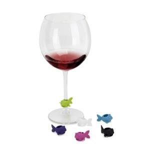 .amazon Umbra - Set tappo per bottiglia di vino + decorazioni per calici, colori assortiti
