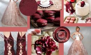 marsala + cameo rose