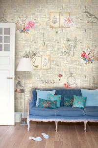 parete Decorate-a-wall-with-newspaper41