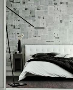 parete decoracao-de-paredes-com-jornais