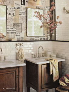 parete decoupage-bathroom