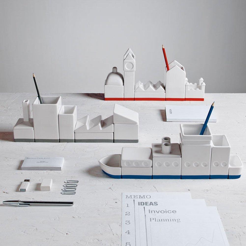 .amazon Porta cancelleria sa scrivania in porcellana a forma di città seletti 64.65