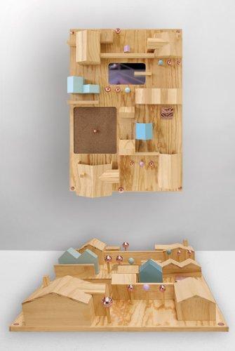 .amazon Seletti - Suburbia contenitore da parete in legno 238.00