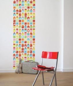 carta da parati Papier peint enfant maisons 29.25 lilipinto.com