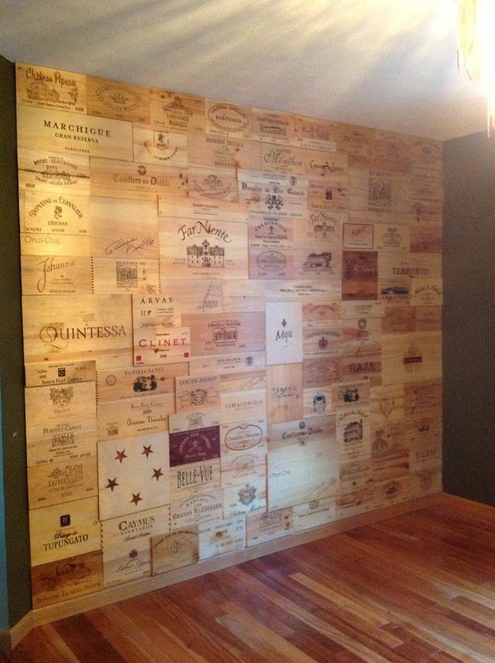 In vino veritas arredare con le cassette del vino - Wooden art mobili ...