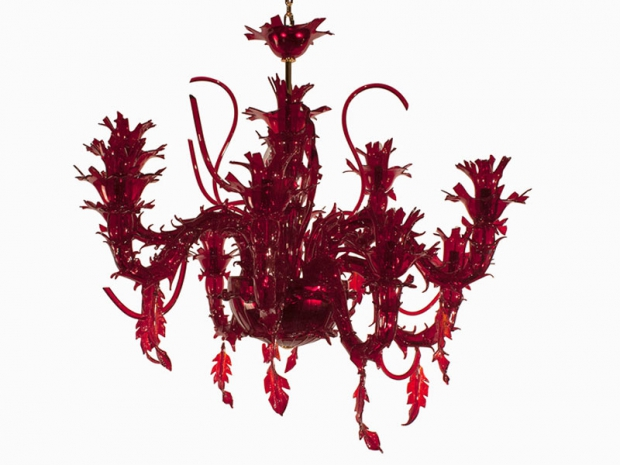 Corallo-Rosso-di-Roberto-Cavalli-Home_ in vetro di murano lavorato a mano