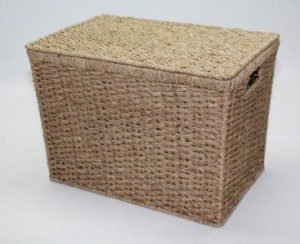.amazon cesto in seagrass con coperchio a doppio intreccio 28.00 Choice Baskets