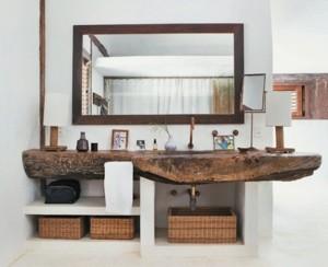 5 modi per arredare con le ceste - architettura e design a roma - Cassettiera Bagno In Vimini