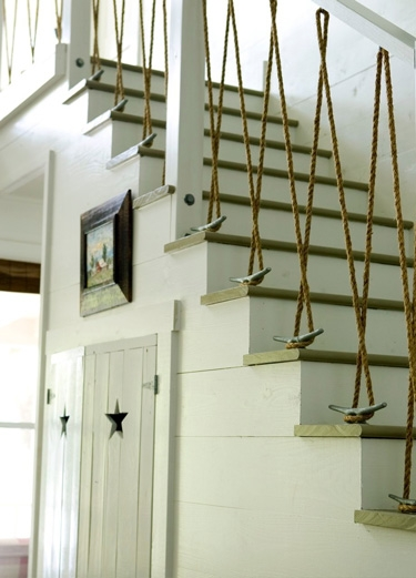 corrimano Cleat Rope Staircase