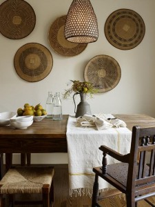 deco cultured-home-----african-baskets-on-wall