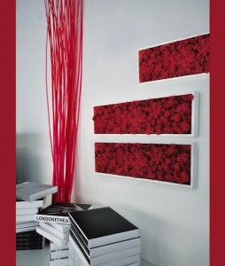 parete MossFrame è una serie, ideata dal marchio italiano Benetti, che prevede sette tipi di cornici laccate bianche che possono contenere sei diversi colori di… muschio2