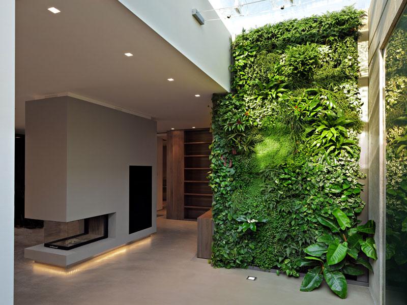Interni green c 39 un grande prato verde in casa - Prato verticale per interni ...