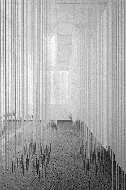 Novanta chilometri di corda, ventimila matite e centinaia di disegni danno vita a BorderLINE Architecture,