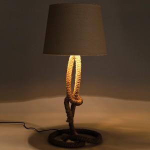 .amazon Kare, Lampada da tavolo Rope , con supporto a forma di corda