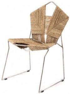 sedu COD (Crafts Oriented Design) le sedie di Rami Tareef fatte di motivi geometrici in corda