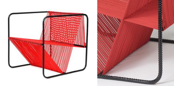 seduta acciaio e corda per la sedia M100 ed è stata ideata dall'architetto Matias Ruiz Malbr realizzata con 90mt di corda in polipropilene