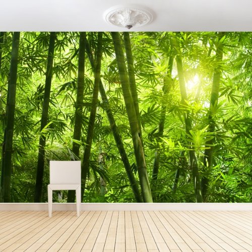 .amazon di your design Carta da parati fotografica XXL - Bamboo - 4 x 2,67 m