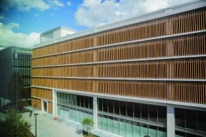 arch Progettato da Vittorio Magnago Lampugnani, il garage del campus Novartis di East Hanover e' dotato di una spettacolare facciata in canne di bambu'