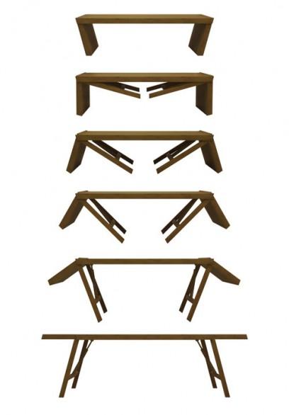 """arredi Il tavolo allungabile """"TT01 Convertible Table"""""""