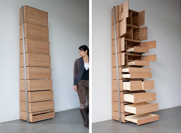 arredi cassettiera Staircase designer olandese Danny Kuo