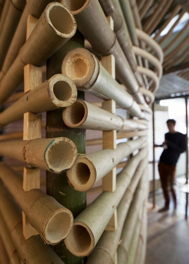 Con il bamb design ecosostenibile architettura e design for Canne di bamboo da arredo