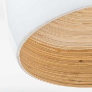 .maison du monde tendenza urban jungle per la Lampada a sospensione bianca in bambù D 40 cm.3