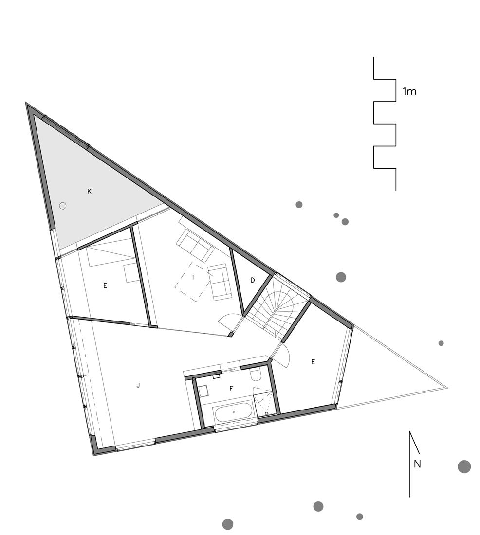 arch, casa-triangulo Architetti Jarmund Vigsnæs AS Architetti MNAL 5