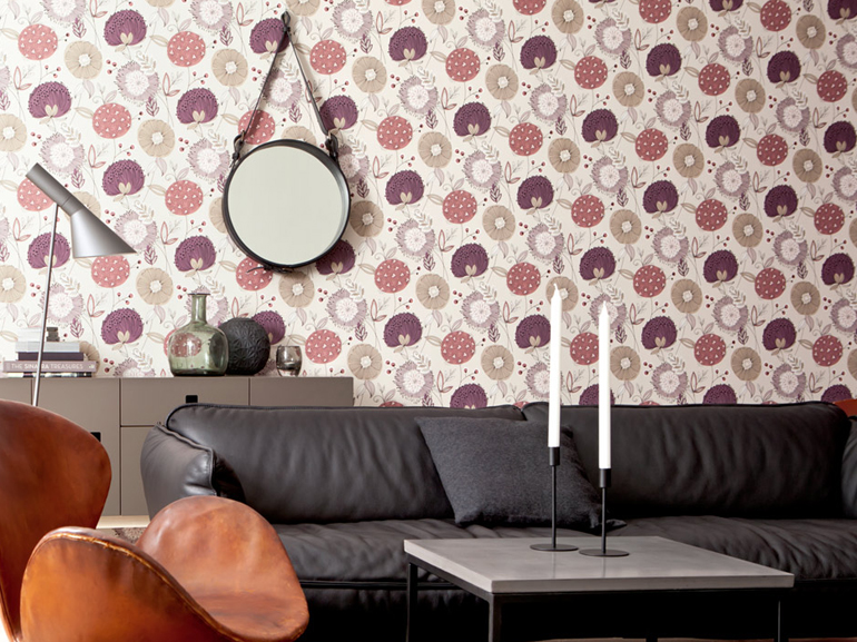 colore vinaccia Carta autunnale Eco Revival Wallpaper 2015